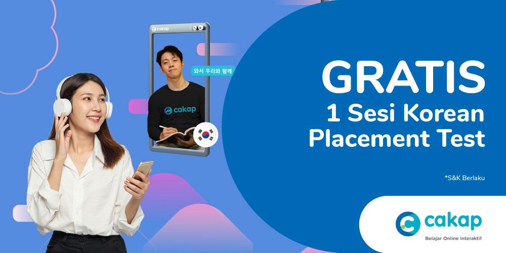 Gambar promo Cakap Korean Placement Test dari cakap